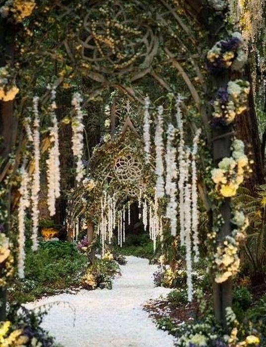 düğün giriş yolu süslemeleri