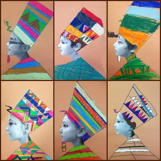 edenfolwell: Art Lesson - Egyptian Pharaohs