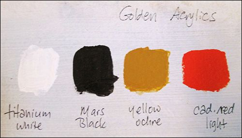 The Zorn Palette - made famous by Swedish painter Anders Leonard Zorn - four earthy colors: yellow ochre, vermilion, ivory black and white. There may have been a few other colors h...