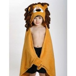 Zoocchini Toddler Bath Towel - The Leo the Lion hooded towel makes bath and swim time a jungle of fun.