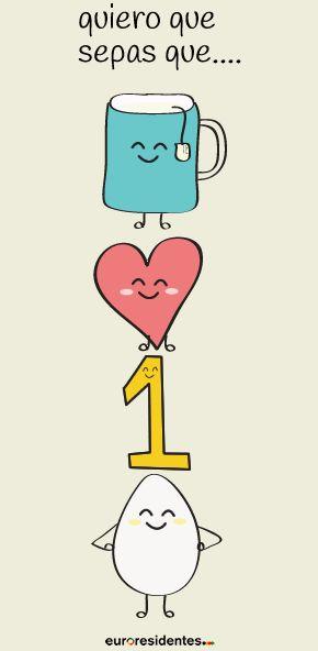 Te quiero un huevo. Frase original para San Valentín #frases #amor