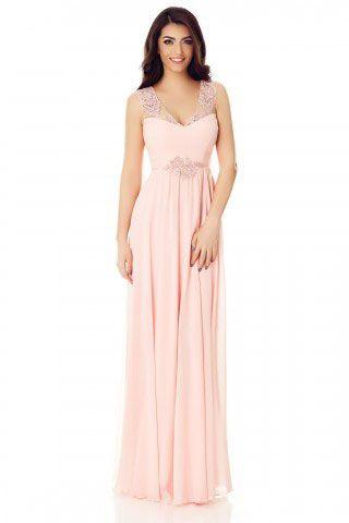 rochie lunga roz - rochii de seara lungi la reducere