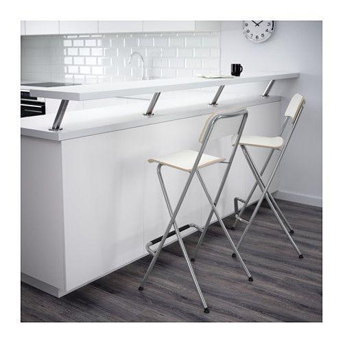 "FRANKLIN Bar stool with backrest, foldable - 29 1/8 "" - IKEA"