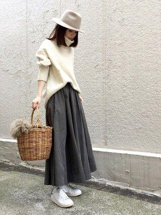 ari☆さんの「デザインスカート(antiqua|antiqua)」を使ったコーディネート