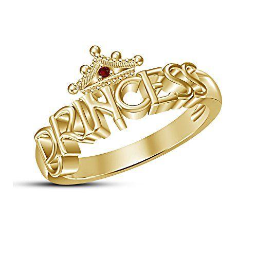 New Fashion Rose Gold Finishing Womens Disney Princess Merida Crown Ring