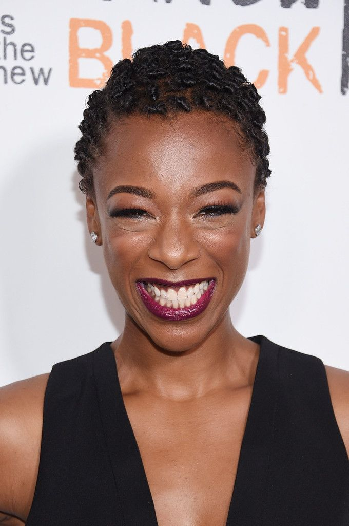 Samira Wiley Short Curls - Samira Wiley rocked close-cropped curls at the New York premiere of 'Orange is the New Black.'