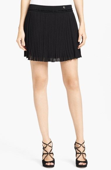 Free shipping and returns on Roberto Cavalli Flounce Miniskirt at Nordstrom.com. Tiny pleats give plenty of flirty flounce to an eyelet-embroidered miniskirt. Roberto Cavalli logo hardware details the waist for a signature finish.