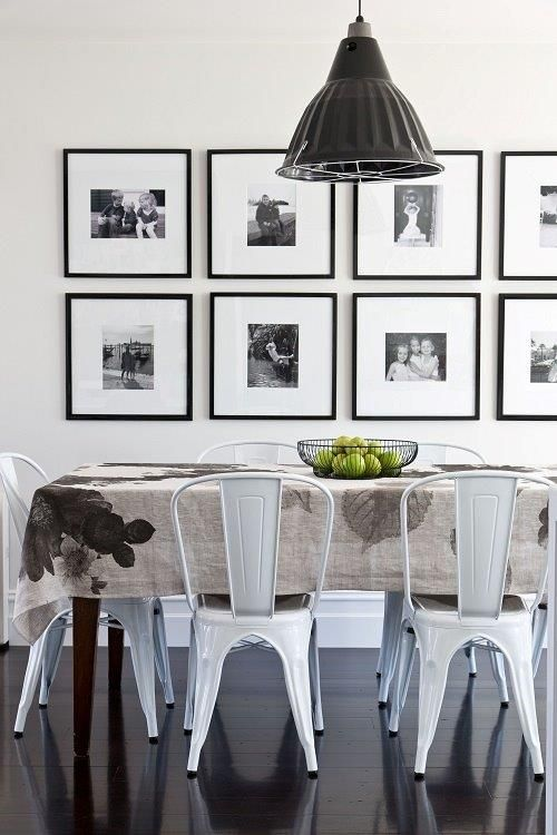 11 Cool Ways To Display Your Photos Dining Room Dining Room