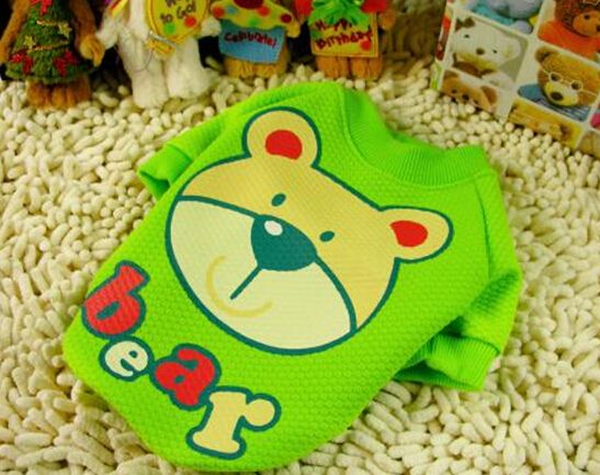 Pet рубашка собака куртка одежда для животных одежда для собак товары для животных Милый медведь животное рубашка