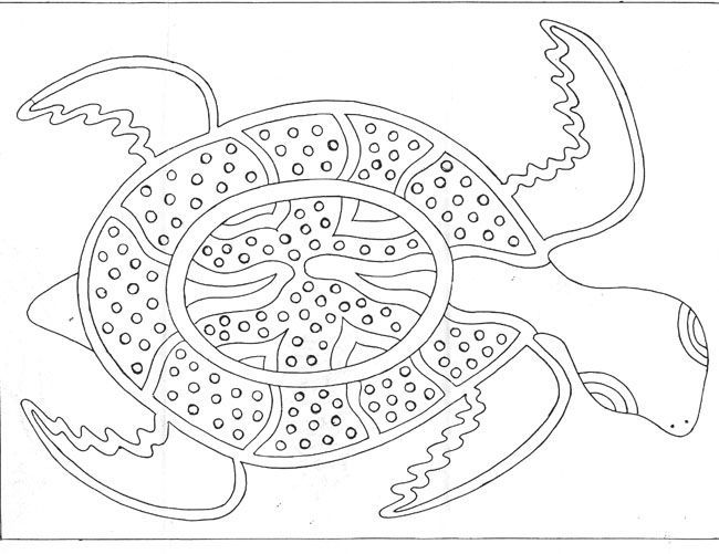 Aboriginal Dot Painting Coloring Pages Aboriginal Dot Painting Aboriginal Dot Art Turtle Art Kids