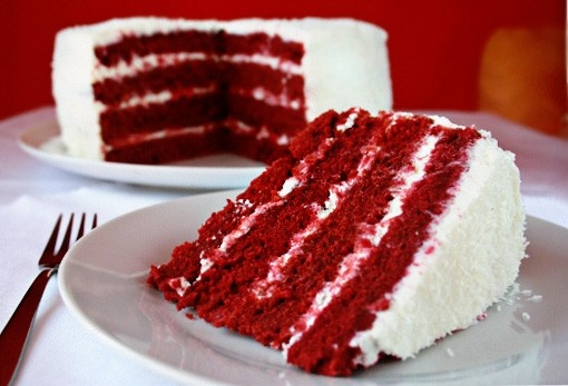 Red velvet layer cake | My true happiness..Food! | Pinterest