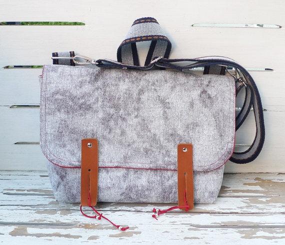 grey canvas bag on etsyShoulder Bags, Canvas Bags, Messenger Bags, Grey Canvas, Laptops Bags, Single Cotton, Cotton Straps, Canvas Messenger, Straps Shoulder