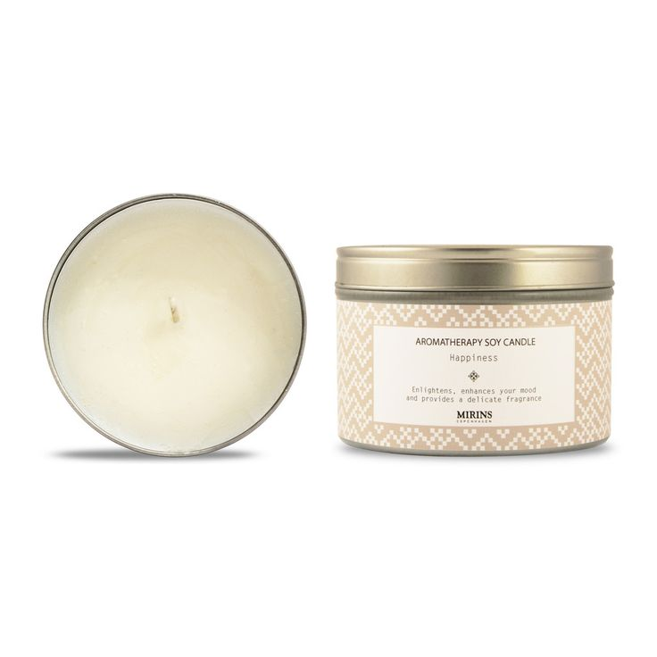 Soy Candle - Happiness - Rose Geranium, Orange  Enlightens, enhances your mood and provides a delicate fragrance.   Our Happiness aromatherapy line consists of a uplifting blend of Rose Geranium, Orange and Mint essential Oils.
