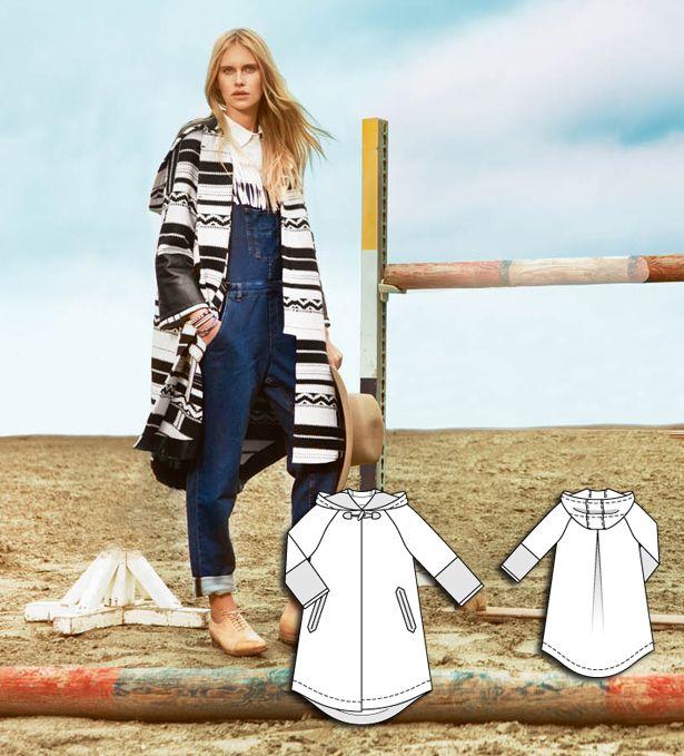 Navajo Coat 08/2015 #burdastyle #sewingpattern #diy #sewing