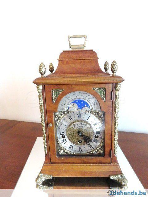 Gebruikt: John Thomas LONDEN, met maanstanden (Klokken & Barometers) - Te koop in Mechelen Muizen
