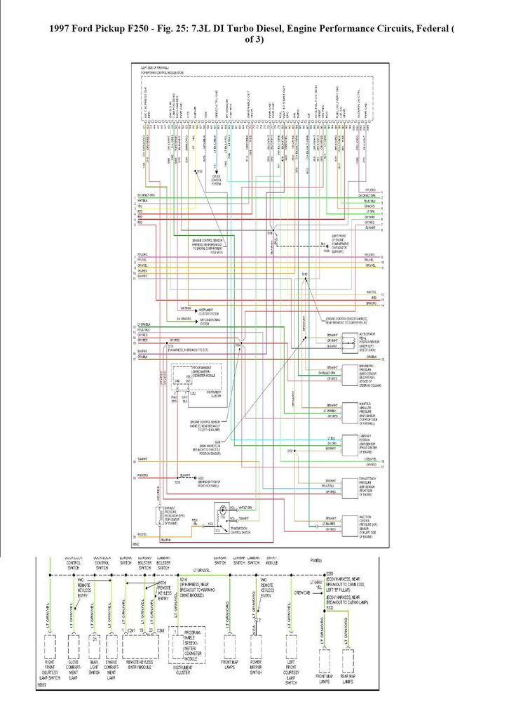 Complete Wiring Schematic Ford F350 1997 Ford F350 Ford
