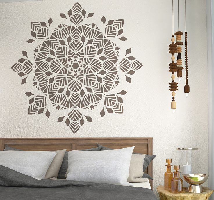 GEOMETRIC SYMMETRICAL MANDALA STENCIL Is The Best Tool To Create An Accented Wall In Your Room