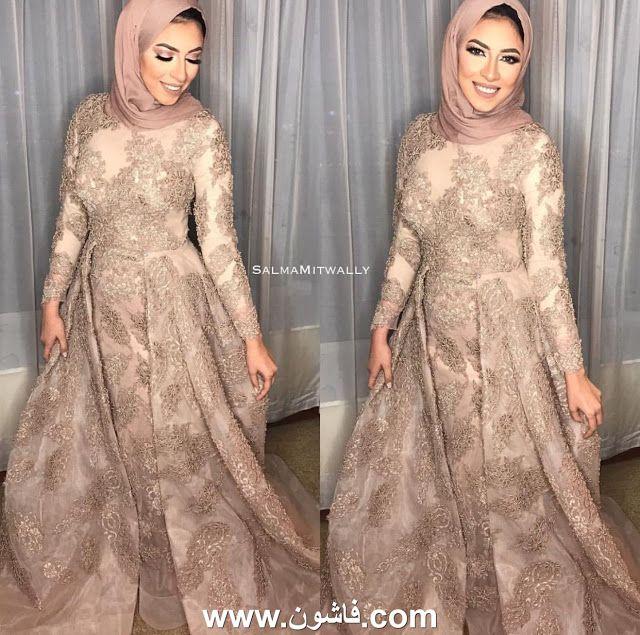 صور فساتين سواريه محجبات 2018 اختارى منها وفصليه Stylish Party Dresses Soiree Dress Modest Fashion Hijab