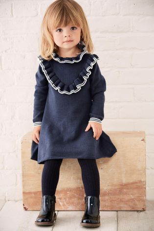 Buy Navy Frill Dress (3mths-6yrs) online today at Next: United States of America