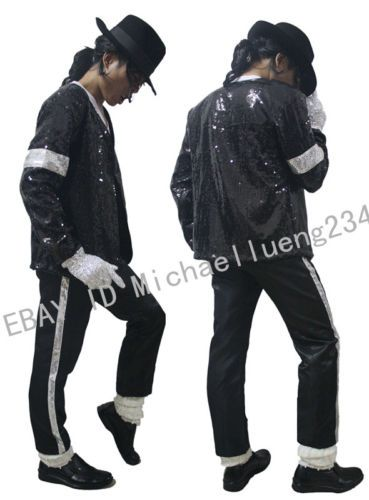 7768e8db Aliexpress.com : Buy Classic MJ Michael Jackson Billie Jean Sequin ... | My  Fav's | Sequin jacket, Sequin coats, Jackets