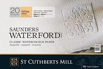 Бумага для акварели Saunders Waterford Rough крупное зерно 56х76 см 300 г белоснежный