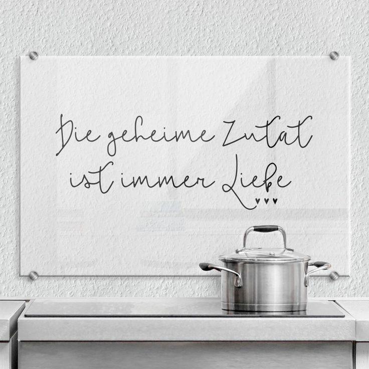 Spritzschutz – Die geheime Zutat ist immer Liebe   wall-art.de
