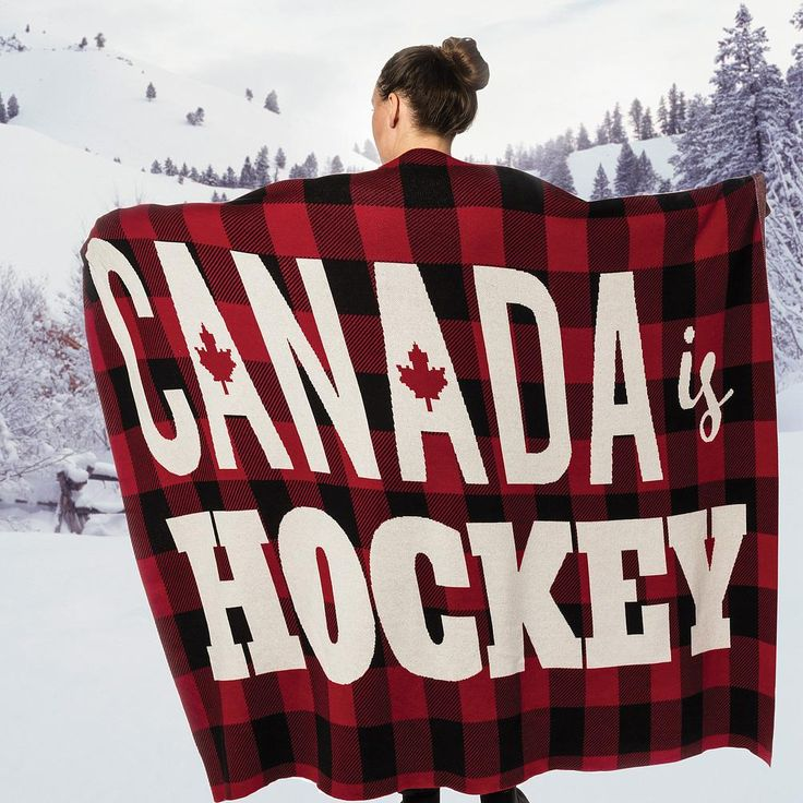 Quot Canada Is Hockey Quot Buffalo Plaid Throw 100 Cotton Ultra