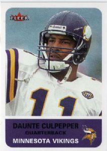 #22 Daunte Culpepper #137 FLEER Tradition 2002 NFLsimilar career to Bert Jones, Kurt Warner, Jeff Garcia, Trent Green, Rich Gannon, Greg Landry, Jim Zorn, Michael Vick, Danny White