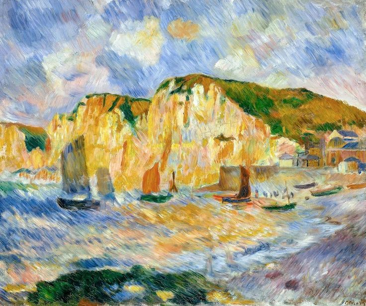 Sea and Cliffs, Renoir 1885, Fade Resistant HD Art Print in Art, Prints | eBay