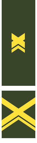 2. Vuosikurssin Kadettikorpraalin arvomerkit (M05). Kadettikorpraalin lisäämisen logiikan perustana luonnollinen sotilasarvoissa ylenemisen järjestys. Toisekseen Kyseessähän ovat Suomen puolustusvoimien ja rajavartioston upseerikoulutusta käyvien koulutuksen aikaiset sotilasarvot. Kolokiksi AU:tten johtopuljailuun Korpin pudottamiseksi ei kande vedota, silloinhan noiden nykyste hintahtavien röyhelöiden kans pitäs olla salmiakit eix jeh? ;D.