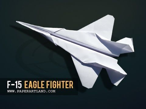 How to make a Cool Paper Airplane that FLIES Far | F-15 - YouTube