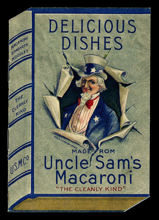 Uncle Sam's Delicious Dishes Cookbook: Vintage Cookbook, Delicious Dishes, Dishes Vintage, Trade Cards, Books Jackets, Macaroni Recipes, Delcious Dishes, Recipes Booklet, Dishes Cookbook