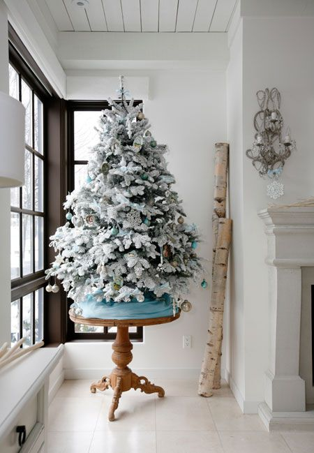 Flocked White Christmas Tree