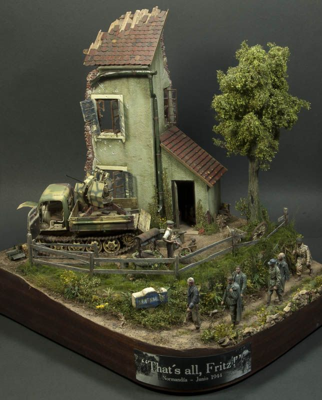 That 39 s all fritz ww ii dioramas vignette pinterest for Scale model ideas