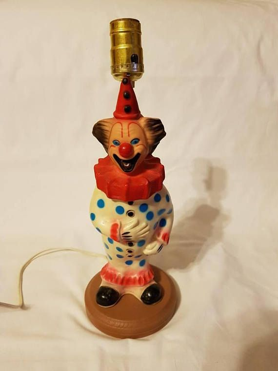 Check out this item in my Etsy shop https://www.etsy.com/ca/listing/583671385/vintage-clown-lamp-cute-creepy-soft