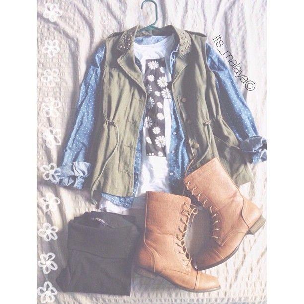 Cute fall outfit - http://AmericasMall.com/categories/juniors-teens.html