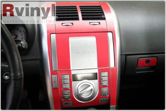 The 2005 – 2010 Scion tC – Dash Kit Installation Examples | Rvinyl Aftermarket Blog #Scion #tC #Dash KIt #CustomDashKits #Installation #RedCarbonFiber