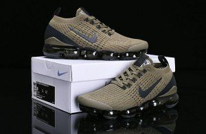 ba7080653 Nike Air Vapormax Flyknit 2019 Olive Green Black AJ6900-300 Women s Men s  Running Shoes