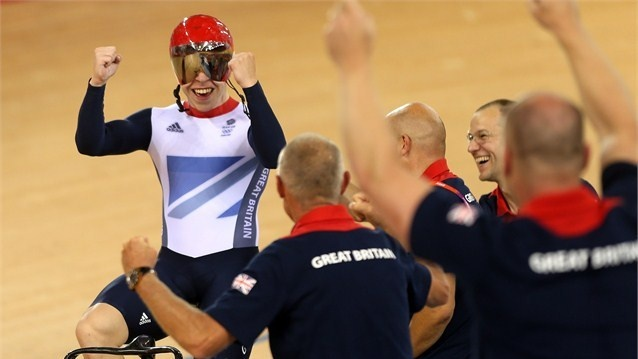 Philip Hindes of Great #Britain celebrates. #Olympics Olympics.