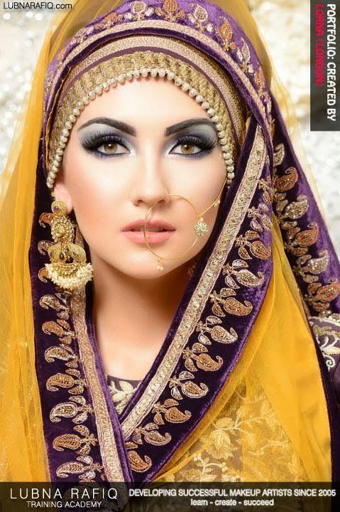 1001 Nights. Model Galina Thomas at Lubna Rafiq Portfolio Day in London. Arabic Makeup
