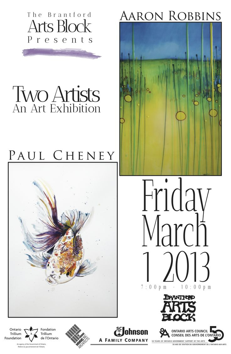 Paul Cheney and Aaron Robbins showcase their pieces at the Brantford Arts Block beginning March 1st. Admission is free!