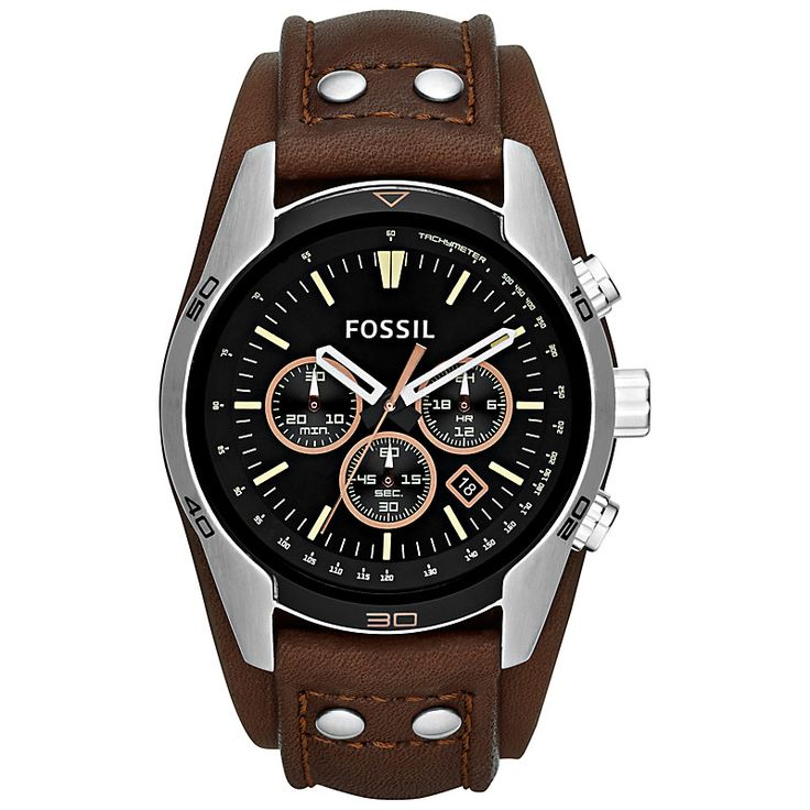 Buy Fossil CH2891 Men's Coachman Chronograph Watch, Brown | John Lewis