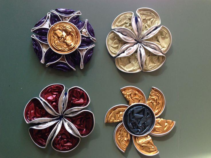 Fiori realizzati con cialde Nespresso