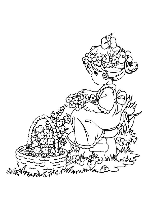 sweet moments coloring pages | Sweet Children - 999 Coloring Pages | Precious moments ...