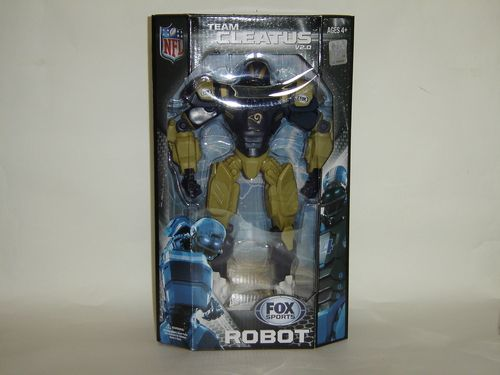 "NFL Los Angeles Rams 10"""" Team Cleatus FOX Robot Action Figure Version 2.0 - Toys"