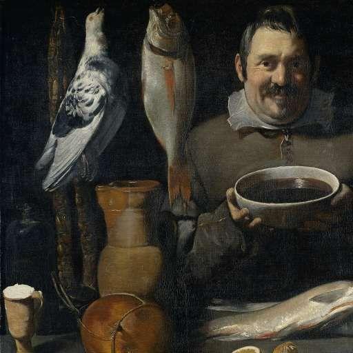 Keukenstuk (bodegón), Meester van de Amsterdamse Bodegón, 1610 - 1625 - Search - Rijksmuseum