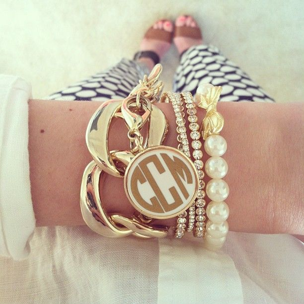 Southern Curls & Pearls - arm candy. Need...those are my initials!