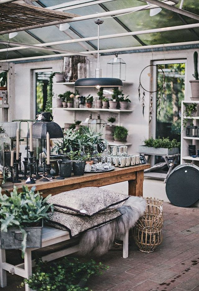 Spring Mood : Outdoors in! | FrenchByDesign  interiors that bring the outdoors in. Kinda like an urban jungle indoors. Whether with potted plants, botanical posters, flowers or branches in vases