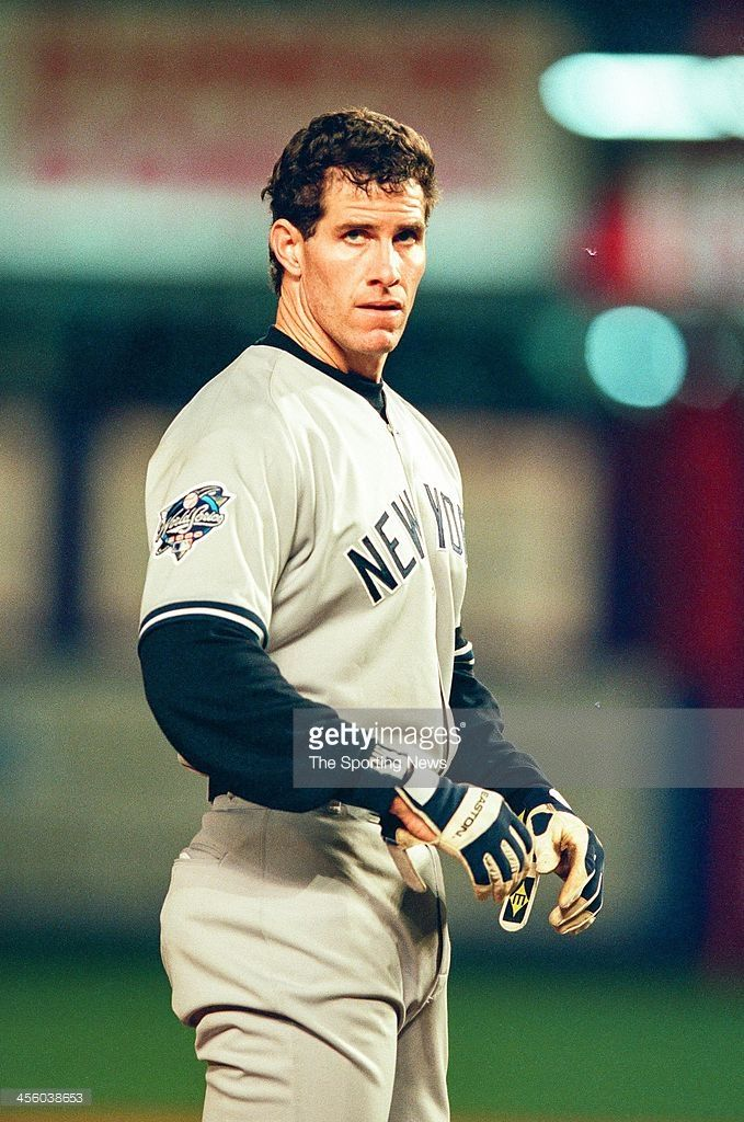 Paul O'Neill of the New York Yankees during Game Three of the World Series against the New York Mets on October 24, 2000 at Shea Stadium in Flushing, New York.