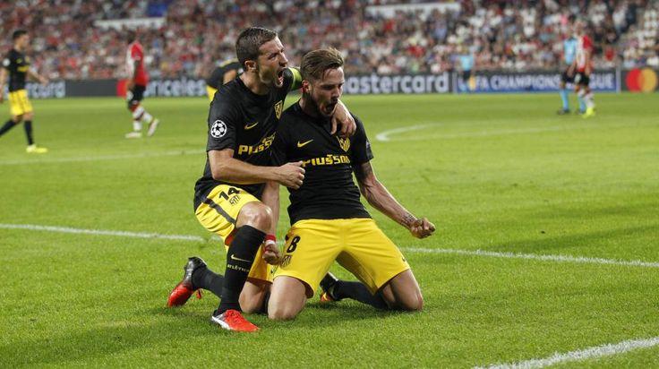 Atlético Madrid beat PSV 1-0 through a Saúl goal